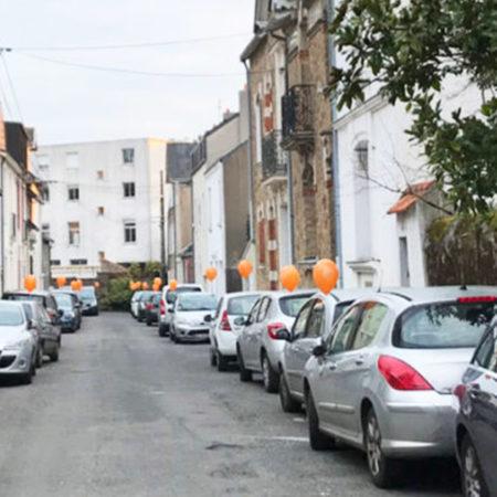 Les belles lettres street marketing Guerilla Keemia Nantes Agence marketing local en région Atlantique