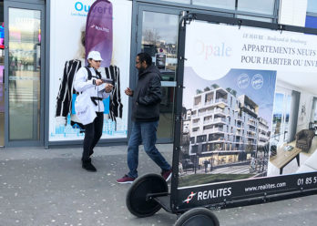 Opale affichage mobile street marketing Keemia Nantes Agence marketing local en region Atlantique