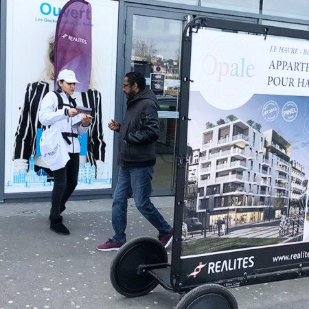 Opale affichage mobile street marketing Keemia Nantes Agence marketing local en region Atlantique