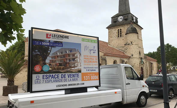 street marketing legendre immobilier agence keemia Nantes en local