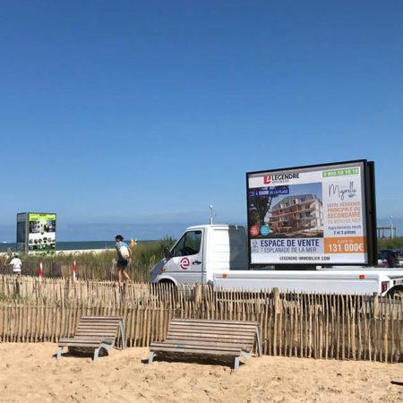 street marketing legendre immobilier agence keemia Nantes en local