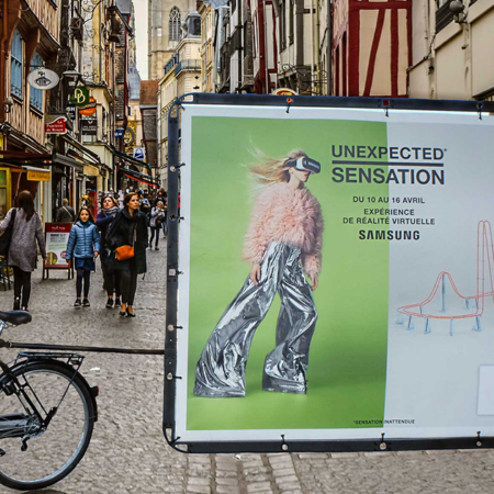 Bike'com® affichage mobile vélo publicitaire - Keemia Nantes agence marketing local en région Atlantique