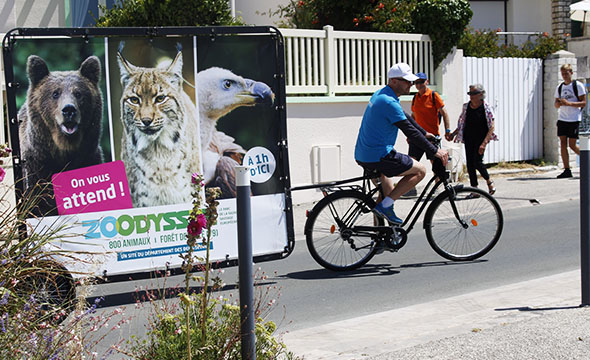 Affichage Mobile en Bike'Com® - Keemia Nantes agence de marketing locale en région Atlantique