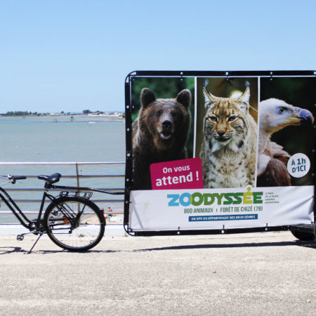 Affichage Mobile en Bike'Com® - Keemia Nantes agence de marketing locale en région Atlantique