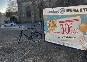 Opération de street-marketing et d'affichage mobile pour Leclerc avec Keemia Nantes agence marketing de référence locale en région Atlantique