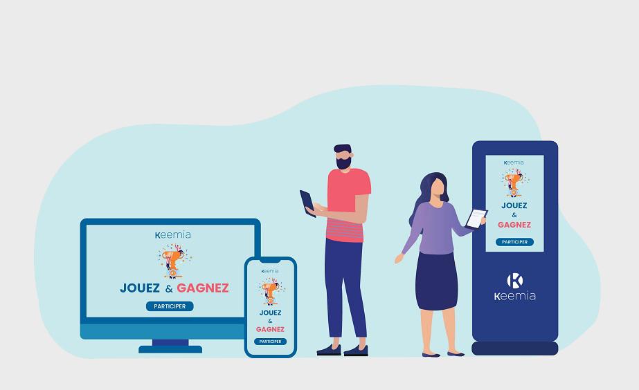 Disponible en mode web et bornes - Keemia Nantes agence marketing locale en région Pays de Loire