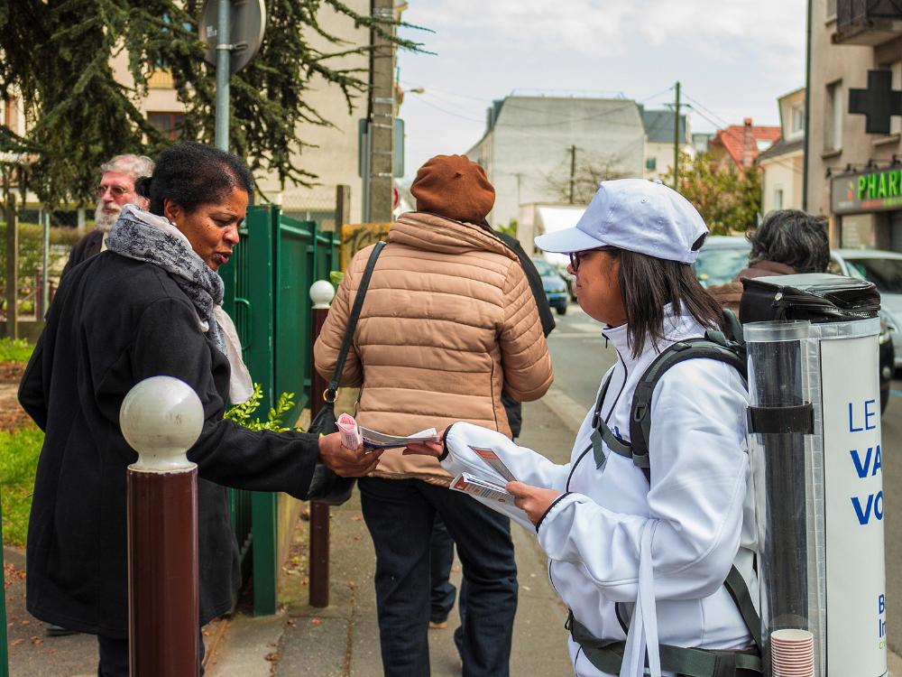 Bouygues Immo - affichage mobile - street marketing - Keemia agence marketing local Paris