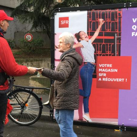 SFR - affichage mobile - street marketing - Keemia agence marketing local Paris