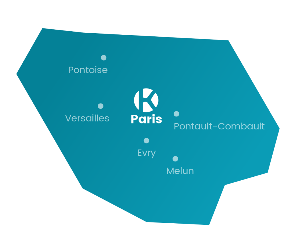 carte du réseau Keemia Paris en Île de FranceKeemia, l'opérateur full marketing - Keemia Paris Agence marketing local en région Île-de-France