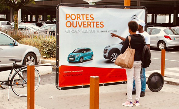 Citroen Affichage mobile Keemia agence marketing local Paris