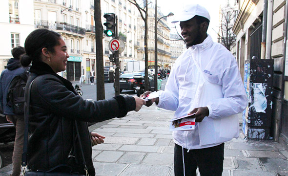 INSEEC street marketing Keemia agence marketing local Paris