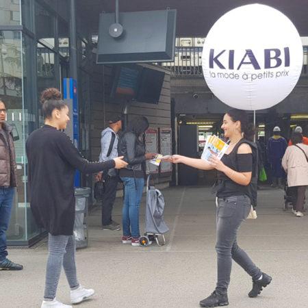 kiabi street marketing affichage mobile agence marketing local cleantag