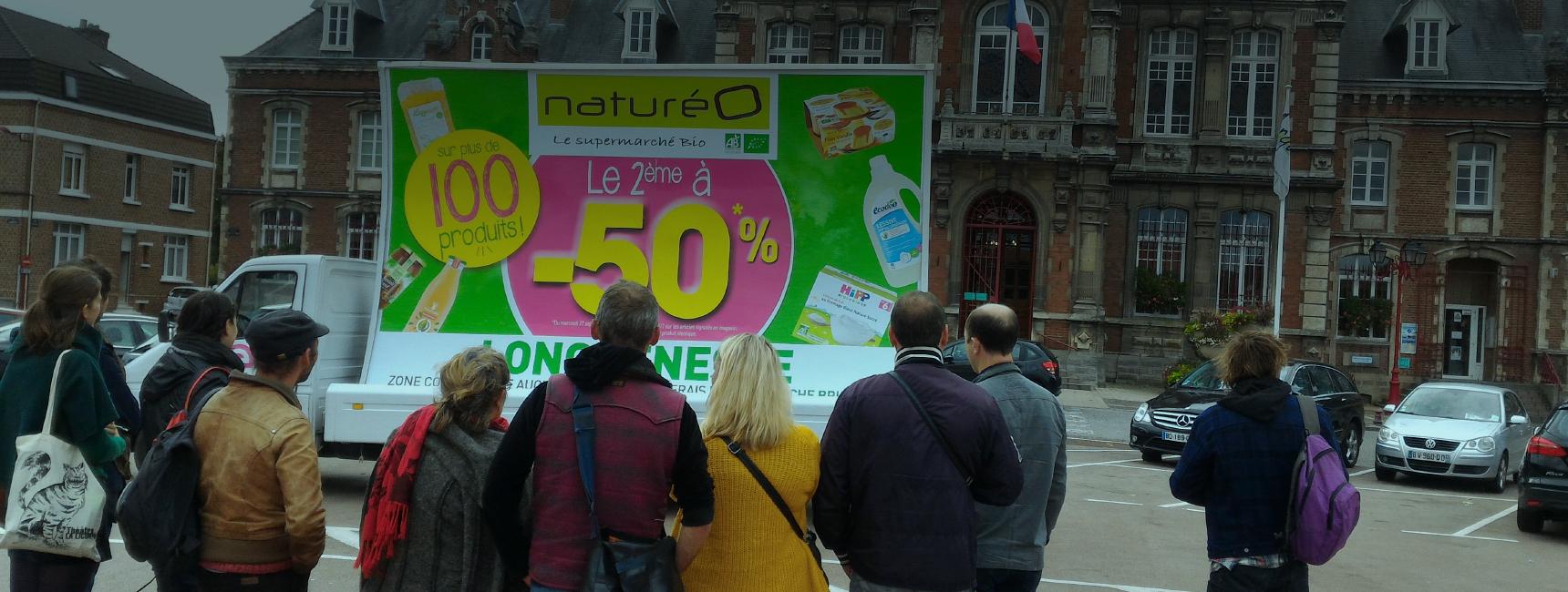 natureo - affichage mobile - Keemia agence marketing local Paris