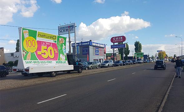 natureo affichage mobile Keemia agence marketing local Paris
