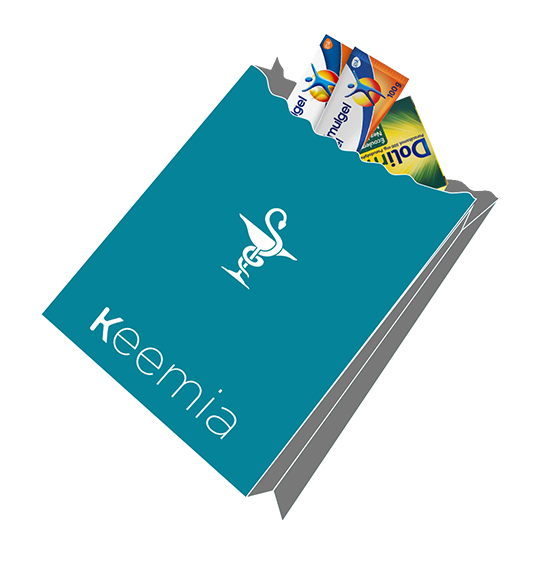 Sac à pharmacie publicitaire - Média tactique - Keemia Paris Agence marketing local en région Île-de-France