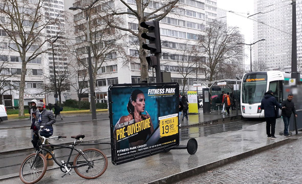 FitnessPark street marketing Choisy Keemia agence marketing local Paris