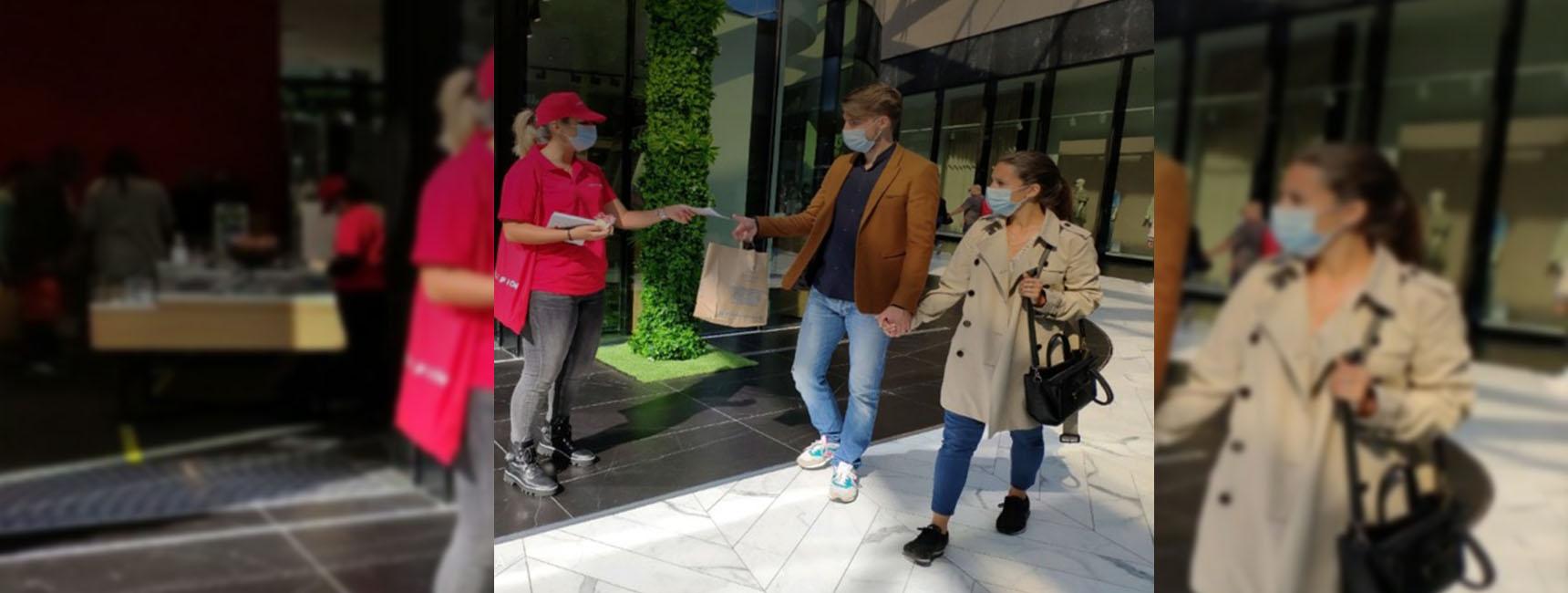 Dispositif de street-marketing et d'animation point de vente pour Louis Pion Keemia Paris agence de marketing locale en ile de france