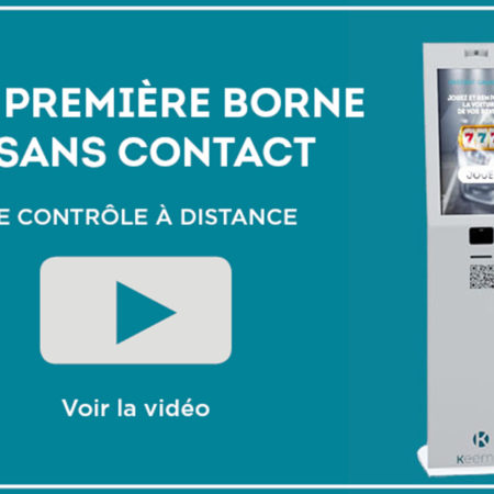Borne sans contact digital innovation par Keemia, agence de marketing locale