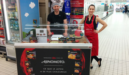 Ajinomoto fait sa cuisine en magasin - Keemia Shopper Marketing - Agence d'activation shopper marketing phygitale