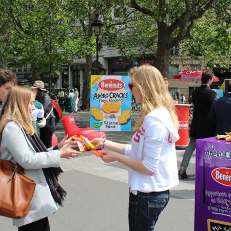 Un Roadshow dégustation pour les apéritifs Benenuts - Keemia Shopper Marketing Experientiel