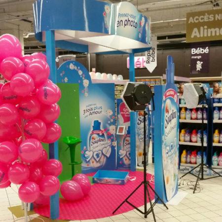 Une animation photomaton grande surface pour Soupline - Keemia Shopper Marketing Experientiel