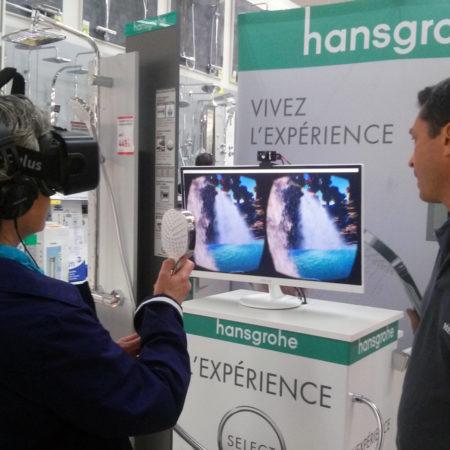 Buzzeo et Hansgrohe proposent aux consommateurs de s'immerger dans l'expérience de la réalité virtuelle - Keemia Shopper Marketing Expérientiel