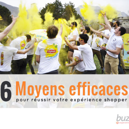 6 moyens efficaces pour réussir votre expérience shopper - Infographie - Keemia Shopper Marketing - Agence d'activation shopper marketing phygitale