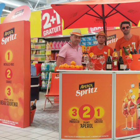 Profitez d'un moment farniente avec Apérol ! Keemia Shopper Marketing - Agence d'activation shopper marketing phygitale