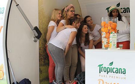 La tournée événementielle de Tropicana pour sa nouvelle boisson Tropicana Douceur - Keemia Shopper Marketing - Agence d'activation shopper marketing phygitale