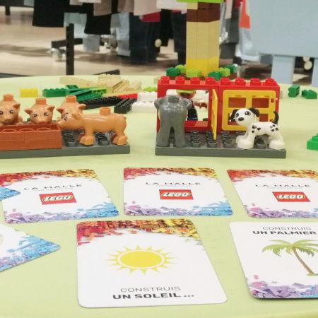 Animation LEGO sur les points de vente pour LA HALLE - Keemia Shopper Marketing - Agence d'activation shopper marketing phygitale