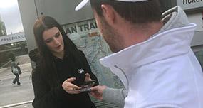 Diffusion street marketing et affichage mobile pour Axel vega - Keemia Shopper Marketing - Agence d'activation shopper marketing phygitale