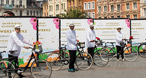 Le Casino Barriere de Lille crée l'évènement avec des Bike'com pendant les flowers weeks mobile - Keemia Shopper Marketing - Agence d'activation shopper marketing phygitale