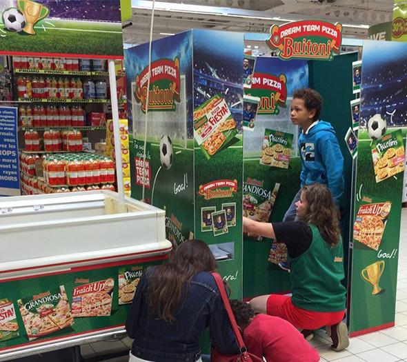Animation photomaton en grande surface pour Buitoni - Keemia Shopper Marketing - Agence d'activation shopper marketing phygitale