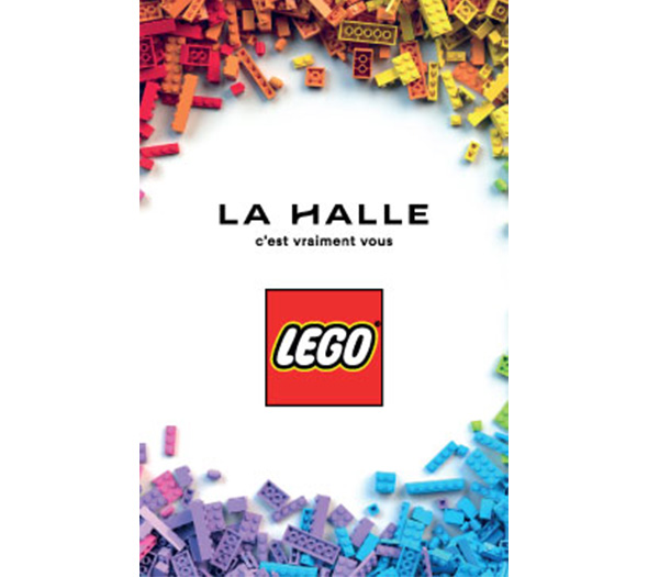 Animation LEGO sur les points de vente pour LA HALLE - Keemia Shopper Marketing - Agence d'activation shopper marketing phygitale