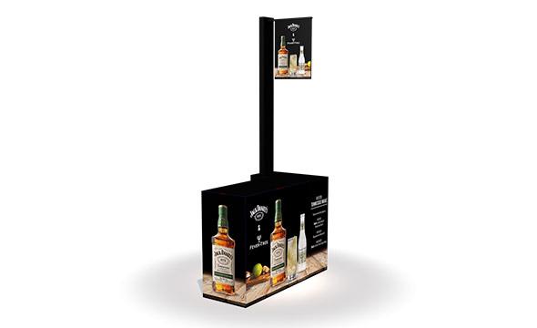 animation dégustation des produits Jack Daniels, en partenariat avec Fever Tree, dans les enseignes METRO pour les professionnels - Keemia Shopper Marketing - Agence d'activation shopper marketing phygitale