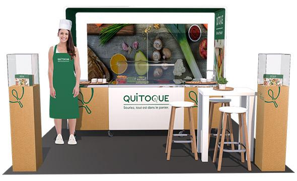 Découverte de la nouvelle gamme des produits Quitoque en rpoxi - Keemia Shopper Marketing - Agence d'activation shopper marketing phygitale