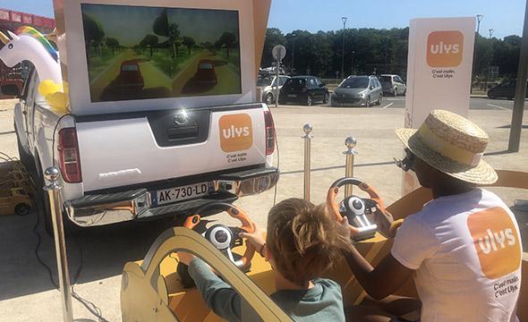 Activation sur les aires d'autoroutes pour l'application Ulys - Keemia Shopper Marketing - Agence d'activation shopper marketing phygitale