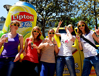 Lipton - Roadshows Keemia Campus Marketing - Agence d'activation shopper marketing phygitale