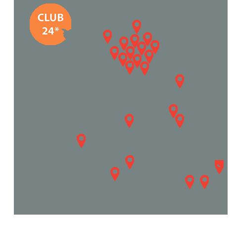 Implantation carrefour le club 24 carte de France - Keemia Shopper Marketing - Agence d'activation shopper marketing phygitale