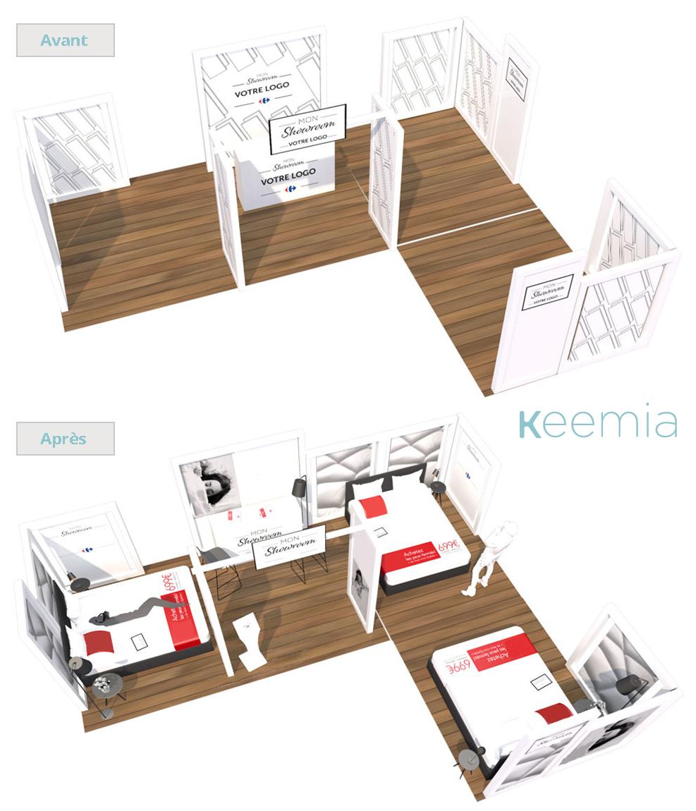 Espace modulable carrefour Club 24 - Keemia Shopper Marketing - Agence d'activation shopper marketing phygitale