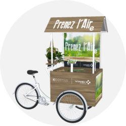 Offre Vinci Autoroutes - triporteur - Keemia Shopper Marketing - Agence d'activation shopper marketing phygitale