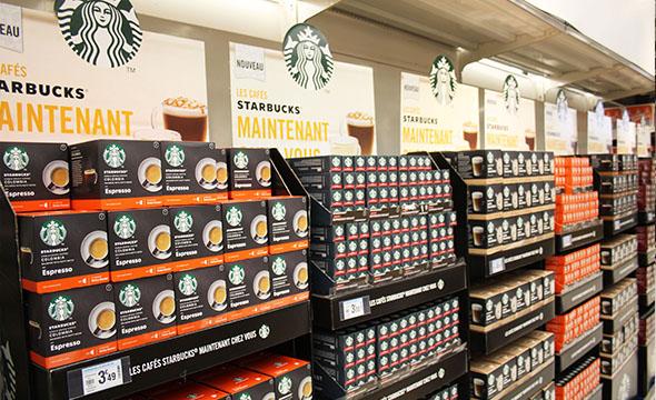 Dégustation instore pour Starbucks - Keemia Shopper Marketing - Agence d'activation shopper marketing phygitale