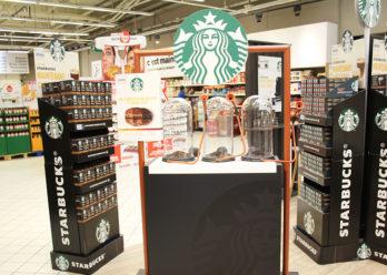 Dispositif de dégustation instore pour Starbucks - Keemia Shopper Marketing - Agence d'activation shopper marketing phygitale