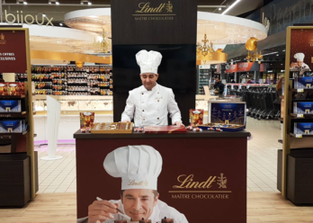 Shop in shop Lindt animation et dégustation en point de vente - Keemia Shopper Marketing Agence d'activation shopper marketing phygitale