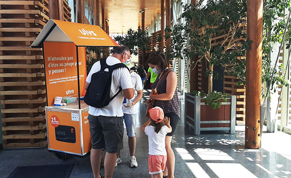 Activation Shopper Ulys sur les aires Vinci Autoroutes - Keemia Shopper Marketing Agence d'activation shopper marketing phygitale