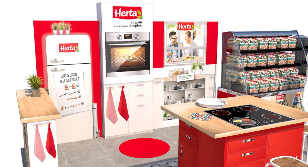 Opération HERTA conseil activation shopper instore période de covid - - Keemia Agence marketing local