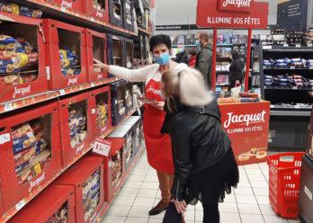 Opération Instore pour les fêtes de fin d'année avec Keemia Shopper Marketing agence d'activation shopper marketing phygitale
