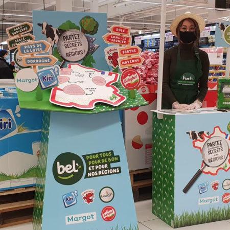 Animation PDV pour BEL avec Keemia Shopper l'agence de marketing d'activation shopper phygitale
