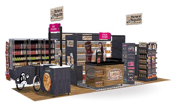 Animation Michel et Augustin - Keemia Shopper agence de marketing d'activation shopper phygitale