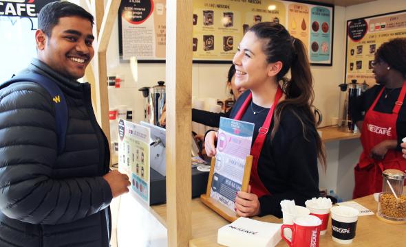 Nescafé activation expérientielle - Keemia Campus - Agence de marketing activation étudiante